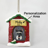 Schnauzer Gray House Ornament (Personalize-It-Yourself)
