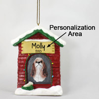 Cocker Spaniel Brown & White House Ornament (Personalize-It-Yourself)