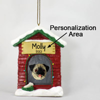 Pug Fawn House Ornament (Personalize-It-Yourself)