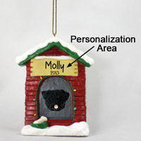 Pug Black House Ornament (Personalize-It-Yourself)