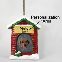 Dachshund Red House Ornament (Personalize-It-Yourself)