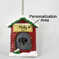 Dachshund Black House Ornament (Personalize-It-Yourself)
