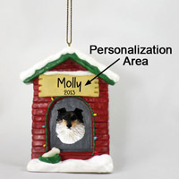 Sheltie Tricolor House Ornament (Personalize-It-Yourself)