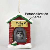 Chow Blue House Ornament (Personalize-It-Yourself)