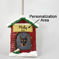 Doberman Pinscher Red w/Cropped Ears House Ornament (Personalize-It-Yourself)