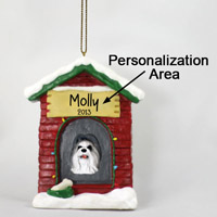 Shih Tzu Gray House Ornament (Personalize-It-Yourself)