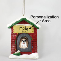 Shih Tzu Tan House Ornament (Personalize-It-Yourself)
