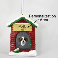 Saint Bernard w/Rough Coat House Ornament (Personalize-It-Yourself)