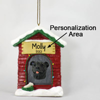 Staffordshire Bull Terrier Brindle House Ornament (Personalize-It-Yourself)