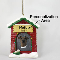 Fox Terrier Brown & White House Ornament (Personalize-It-Yourself)