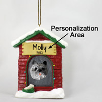 Cairn Terrier Gray House Ornament (Personalize-It-Yourself)