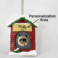 Cairn Terrier Red House Ornament (Personalize-It-Yourself)