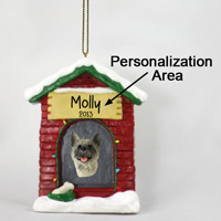 Akita Gray House Ornament (Personalize-It-Yourself)