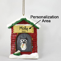 Schnauzer Giant Gray House Ornament (Personalize-It-Yourself)