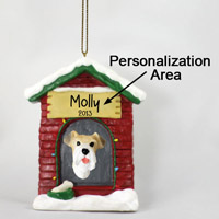 Wire Fox Terrer Red House Ornament (Personalize-It-Yourself)