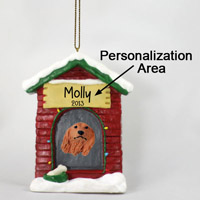 Dachshund Longhaired Red House Ornament (Personalize-It-Yourself)
