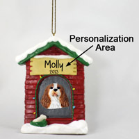 Brown & White Cavalier King Charles House Ornament (Personalize-It-Yourself)