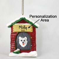 American Eskimo House Ornament (Personalize-It-Yourself)