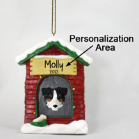 Australian Shepherd Tricolor w/Docked Tail House Ornament (Personalize-It-Yourself)