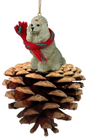 Poodle Gray Pinecone Pet Ornament