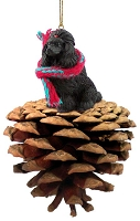 Poodle Black Pinecone Pet Ornament