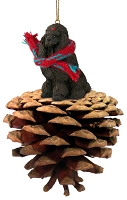 Poodle Chocolate Pinecone Pet Ornament