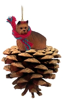 Yorkshire Terrier Pinecone Pet Ornament