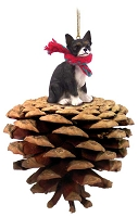 Chihuahua Black & White Pinecone Pet Ornament