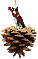 Bull Terrier Brindle Ponderosa Pet Ornament