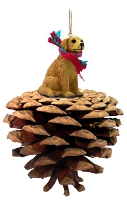 Golden Retriever Pinecone Pet Ornament