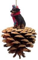 Rottweiler Pinecone Pet Ornament