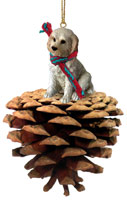 Labradoodle Cream Pinecone Pet Ornament
