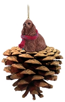 Cocker Spaniel Brown Pinecone Pet Ornament