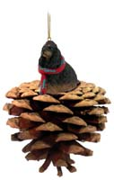 Cocker Spaniel Black & Tan Pinecone Pet Ornament