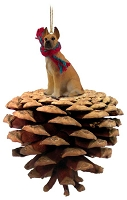 Great Dane Fawn Pinecone Pet Ornament