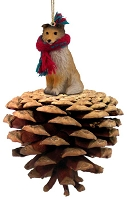 Sheltie Sable Pinecone Pet Ornament