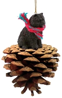 Chow Black Pinecone Pet Ornament
