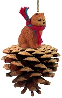 Chow Red Pinecone Pet Ornament