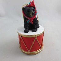 Bear Black Drum Ornament