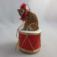Leopard Drum Ornament