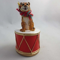Tiger Drum Ornament