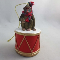 Mandrill Drum Ornament