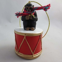 Chimpanzee Drum Ornament