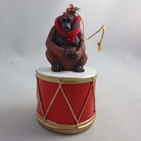 Orangutan Drum Ornament