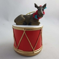 Moose Cow Drum Ornament