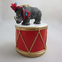 Rhinoceros Drum Ornament