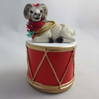Dahl Sheep Drum Ornament