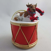 Guernsey Bull Drum Ornament