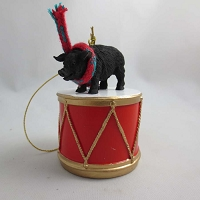 Pig Black Drum Ornament
