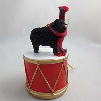 Sheep Black Drum Ornament